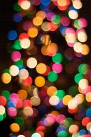 christmas bokeh by ourneverland