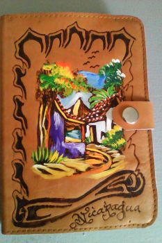 painted leather journal from Nicaragua by Piglovearon
