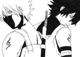 Kakashi and Sasuke ANBU by cheesyporridge2121