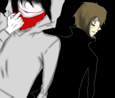 Jeff The Killer and Homicidal Liu-Encounter. by MikaelBratLoni