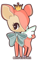 Cupid the Fairy Fawn by Minty-Kitty-Art