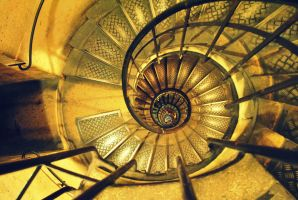 Stairway to Arc de Triomphe by ozgunobia