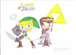 Link and Zelda by sonic4ever760