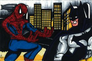 Spider-man vs Batman by RWhitney75