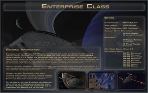 Enterprise Class Spec Sheet by Majestic-MSFC