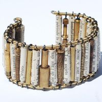 French paper bead bracelet by Tanith-Rohe
