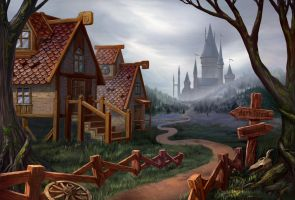 The path to the castle by artforgame