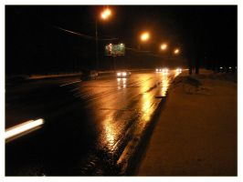 night road by Galaher