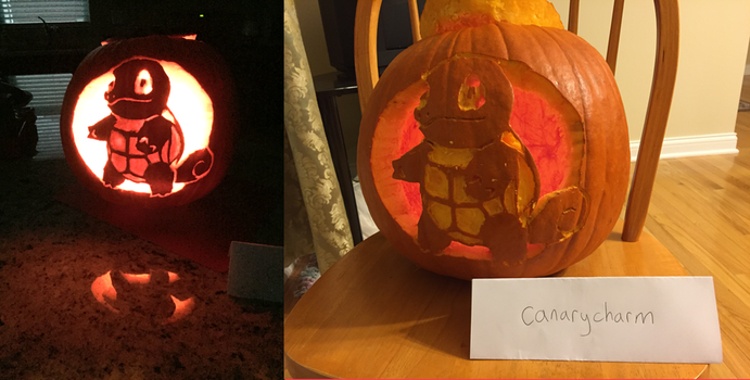 Squirtle Pumpkin (On and Off) by WineChan