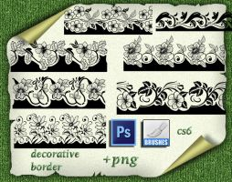 Decorative Borders Brushes by roula33