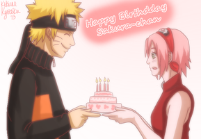 Happy Birthday, Sakura-chan~ by Kitsunena