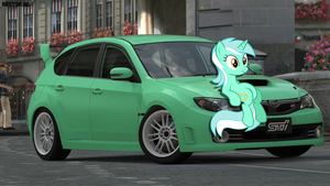 Lyra and her Subaru Impreza by nestordc