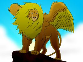 Winged Lion by BennytheBeast