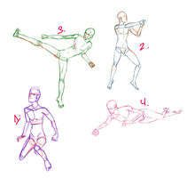 poses no.1-4 by Seraphoid