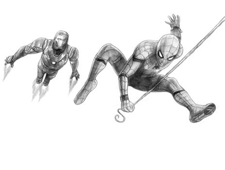Spiderman and Ironman by SoulStryder210