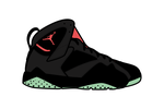 Aj7_air jordan 7_Yeezy_Black_solar_red by kleneg