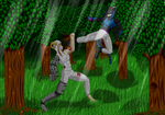 Commission: Friendly Sparring by Helios-No-Jinn