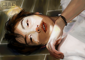 'Sun-struck' Jungkook by Mielzy