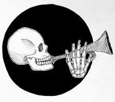 Inktober Day 12 : Skeleton  by TheDreamer843