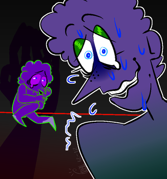 Did he touch you?Not a single hair!(Michael Afton) by Darktanian