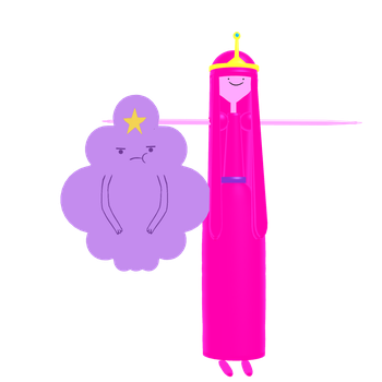 Pricess Bubblegum and Lumpy Space Princess by YamiSweet