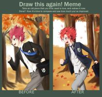 Naoki and school Before And After by ivan1426