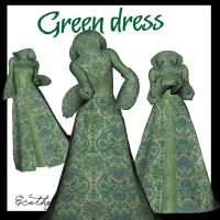 Green Dress by Ecathe