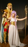 Shaka Virgo with Athena by ZaxCosplay