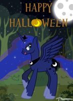 Luna Says Happy Halloween by PoshPete117
