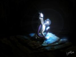 Mewtwo fan art by Kiaun