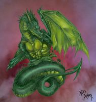 Painter dragon COLOR by AlessandrArt