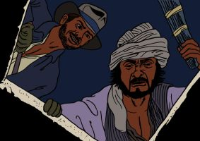 Indiana Jones and Sallah searching the ark by xAndyLG