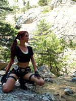Lara Croft and mountains by TanyaCroft