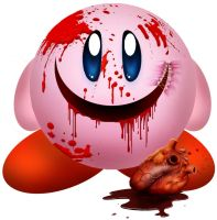 Creepy Kirby by Zyari