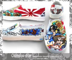 Samuari Champloo Shoe art by sent2ufromheaven