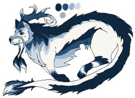 Water Wolf Dragon Adopt [SOLD] by wyomingcrazy101