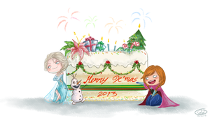 Frozen: Merry Christmas 2013 by Justsui
