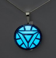 Glowing Iron Man Arc Reactor Pendant by ArchandSoul