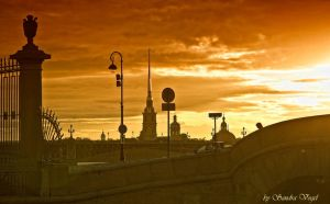 St. Petersburg at sunset-II by DerDunkleEngel