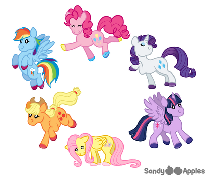 My Little Squishies by Sandy--Apples