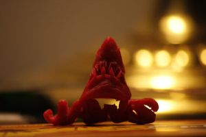 Jaws Babybel cheese wax Sculpture by GhostOfPardition