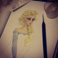 Elsa - WIP by BatWitch