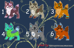 Chibi Canine Adopts :CLOSED: by LizzysAdopts