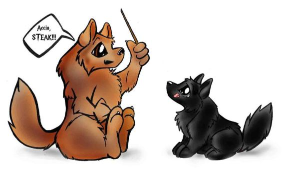 Hungry Moony and Padfoot by Ashwin24