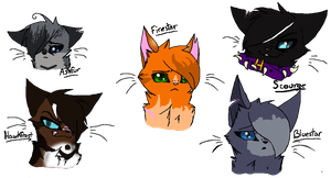 Warriors Headshots by catfanatic