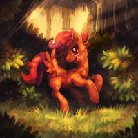 Commission: Adult Scootaloo by salanchu
