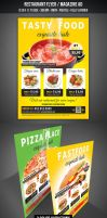 Restaurant Flyer / Magazine AD by graphicstock