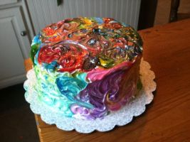 Rainbow Cake by dreamylittlethings