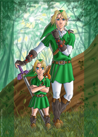 LOZ: Little Link VS. Big Link by Wictorian-Art