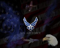Air Force Logo Wallpaper A tribute to the usaf 2 byUsaf Iphone Wallpaper